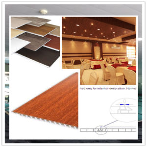 China Manufacruer Wooden Lamination Wall Panel and PVC Decoration Panel 8*250mm ISO9001 pictures & photos