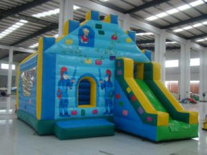 Kid Outdoor Inflatable Castle Blue (CL-003)