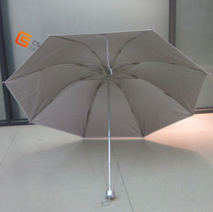 Three Fold Manual Open Slived Coated Fabric Umbrella (YST007A) pictures & photos