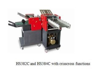 Paper Folder Machine with Criss-Cross Functions/ Folding Machine (HS382C) pictures & photos