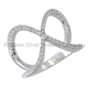 Fashione 925 Sterling Silver Jewelry Inlaid Cross Ring (KR3093) pictures & photos