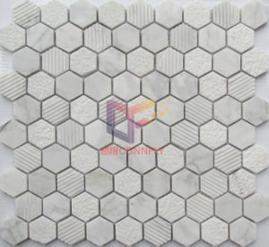 2014 Latest Hexagon Shape Stone Marble Mosaic (CFS1006) pictures & photos