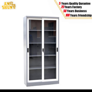 Glass Sliding Door Steel Documents Cabinets pictures & photos