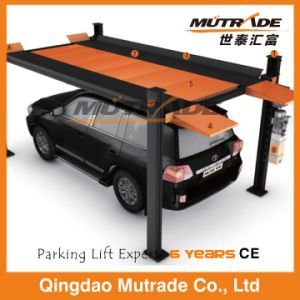 Ce Dual Function Four Post Hydraulic Maintenance Car Parking Lift pictures & photos