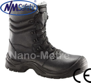 Nmsafety Leather Warm Winter High Safety Work Boots pictures & photos