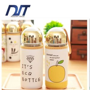 2016 New Design Recycled Glass Water Bottle with Leather Sleeve pictures & photos