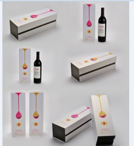 Fancy Paper Single Bottle Wine Box with EVA Foam Insert pictures & photos