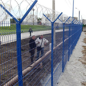 Blue Color PVC Coated Welded Mesh Industrial Fence pictures & photos