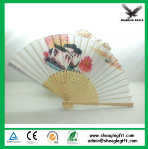 Wedding Favors Paper Folding Hand Helf Fan with Bamboo Rib pictures & photos