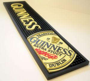 Soft PVC Rubber Logo Beer Wine Bar Mats pictures & photos