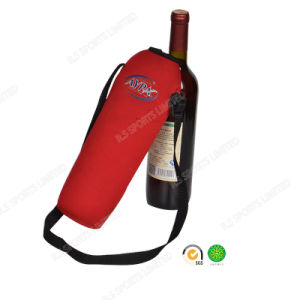 Wholesale Shoulder Belt Neoprene Red Bottle Koozie with SGS Certificate