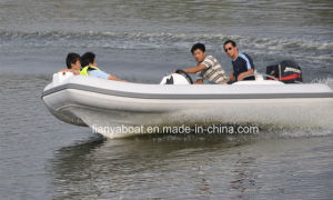 Liya 4.3m Luxury Hypalon Inflatable Boat with Outboard Engine pictures & photos