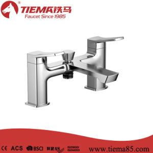 Sanitary Ware Deck Mounted Twin Bathroom Faucet Bath Faucet (TMK41301)