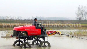 Aidi Brand 4WD Hst Self-Propelled Mist Boom Sprayer for Paddy Field and Muddy Farm pictures & photos