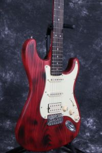 Burning Finish Ash Wood St Guiatr AlNiCo Pickups Quality Switch Strat Electric Guitar Guitarra pictures & photos