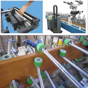 Hotmelt (PUR) Wrapping Veneer Machine for Different Shapes pictures & photos
