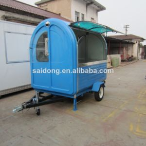 Mobile Food Cart with Wheels/Snack Sale Food Cart