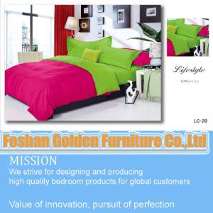 Cheap Plum 100 Cotton Solid Color Home 4 PCS Bedding Set (LH-20) pictures & photos