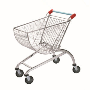 Large Volume Supermarket Carts Finished with Chrome Shopping Trolley pictures & photos