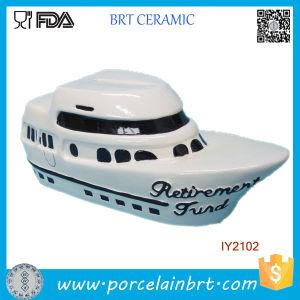 Creative Decoration Passenger Ship Ceramic Money Box pictures & photos