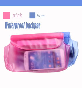 Waist Bag for iPad Mini for Mobile Phone ,Waterproof Cool Bag with Zippers Summer Gifts (WF-026)