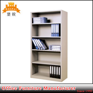 Office Open 5-Layer Steel Wholesale Magazine Bookshelves Metal Library Furniture Shelves Shelving pictures & photos