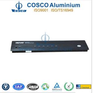 Black Anodizing Aluminum/Aluminium Front Panel with CNC Machined pictures & photos