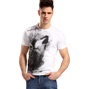 Cheap Wholesale Cotton Custom Plain Screen Printing T-Shirt pictures & photos