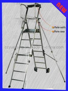 Aluminum Folding Adjustable Platform Step Ladder pictures & photos