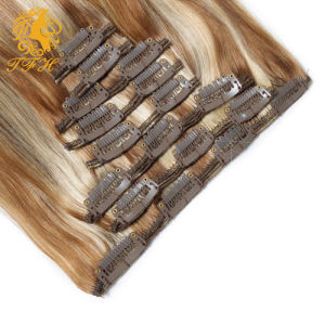 Clip in Hair Extension 100% Virgin Remy Human Hair Clip in Hair pictures & photos