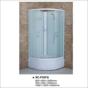 High Tray Quadrant Shower Room with Fabric Tempered Glass pictures & photos