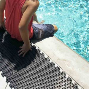 Anti Non Slip Holes Drainage Swim Swimming Pool Rubber Floor Mats pictures & photos