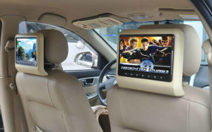 9inch HD LED Clip on Active Car Headrest Monitor with DVD Player Function