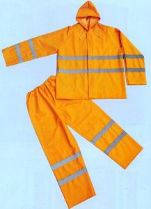 PVC Rain Suit with Reflector pictures & photos