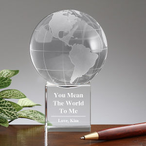 Newst Design OEM Clear K9 Crystal Globe pictures & photos