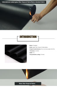 High Quality Glass Fiber Fireproof Tarpaulin/Tarp Fabric pictures & photos