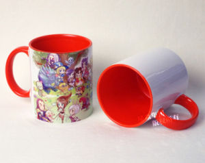 Orange Ceramic Inner & Rim Color Mug for Wholesale pictures & photos
