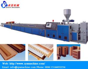 WPC Wood Plastic Lumber/Cladding Panel Production Line pictures & photos