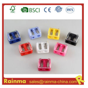 Color Double Safety Mini Kids Pencil Sharpener pictures & photos