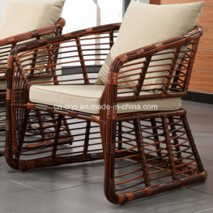 Cheap Outdoor Garden PE Rattan Wicker Round Coffee Table and Chairs Set (Z327) pictures & photos