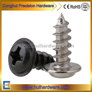 Nickel Plated Pan Head Self Tapping Screws with Washer pictures & photos
