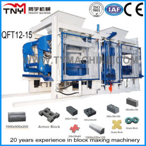 PLC Control System Cement Block Making Machinery Qft12-15 pictures & photos