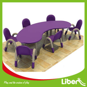 Kids Kindergarten Furniture Study Table and Chairs (LE. ZY. 159) pictures & photos