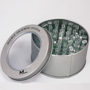 Tin Box Metal Round with Clear Window (FV-041203) pictures & photos