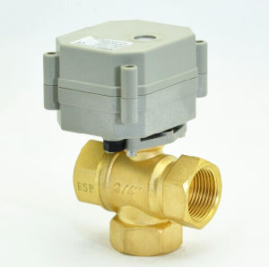Miniature 3-Way Electric Automatic Control Brass Ball Valve (T20-B3-C) pictures & photos