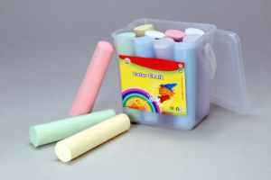 12PCS 10.7cm Sidewalk Chalk with PP Square Bucket pictures & photos