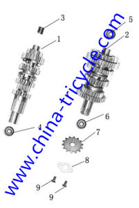 Spare Parts of Transmission Shafts of Tricycle Engine (SP-SP-17) pictures & photos