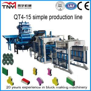 Full Automatic Concrete Block Making Machine Production Line Qt4-15 pictures & photos