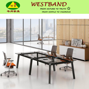 Newest Design High Quality Aluminium Glass Conference Table (WB-Double)