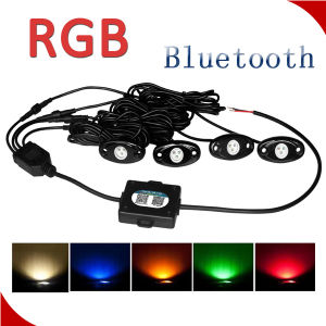Hot Sale 36W 3600lm 4PC/Set RGB Bluetooth Controller LED Rock Light for ATV UTV Car, Trucks pictures & photos